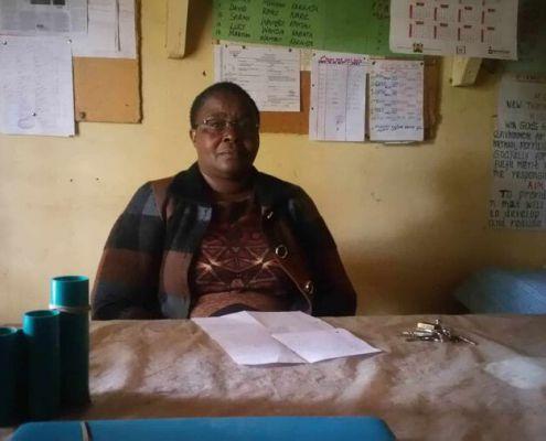 Headteacher Mary Muchai