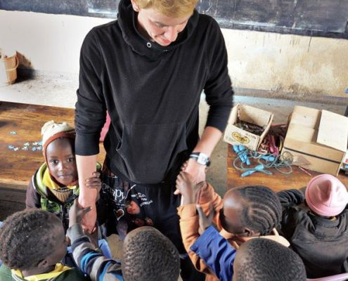 Patin Christina zu Beusch in der Nursery School