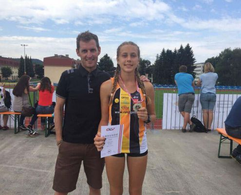 Roman trainiert Carina seit Herbst 2016
